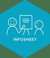 Infosheet illustratie blauw