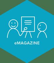 eMagazine illustratie blauw
